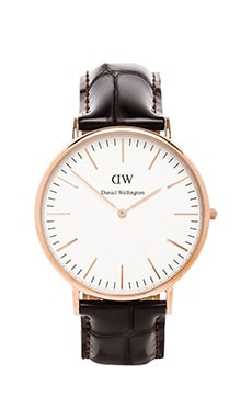 Daniel Wellington York 40mm en Or Rose