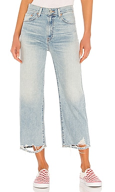 Pierce High Rise Cropped Straight Denimist $225