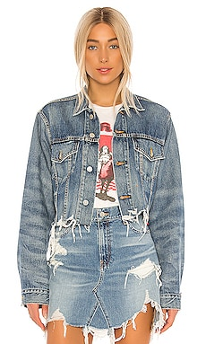 Cropped Agnes Trucker Jacket Denimist $295