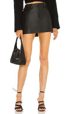 Leather Combo Mini Skirt Dion Lee $890 Collections