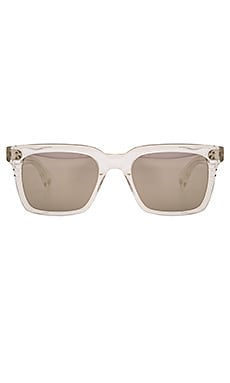 Dita Sequoia Sunglasses in Crystal Clear, Dark Grey, & Milky Gold Flash