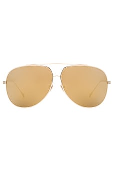 Dita Condor Sunglasses in Gold & Green Mirror Lenses