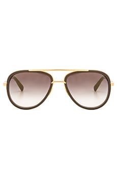 Dita Mach Two Sunglasses in Stone Grey & Gold Flash