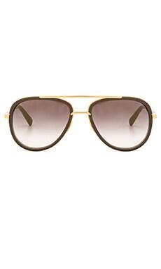 Dita Mach Two Sunglasses in Stone Grey & Gold Flash