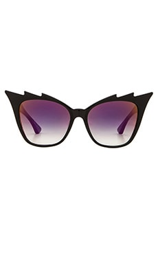 Dita Hurricane Sunglasses in Black & Grey Clear Violet