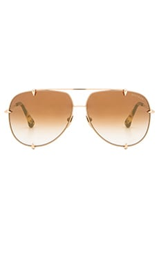 Dita Talon Sunglasses in Satin Tan & 12K Gold
