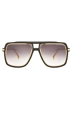 Dita Westbound Sunglasses in Matte Black & 18K Gold