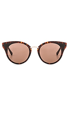Dita Reckless Sunglasses in Dark Tortoise, Coffee Carmel, & Champange