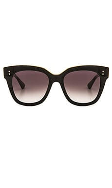 Dita Day Tripper Sunglasses in Black & Dark Grey