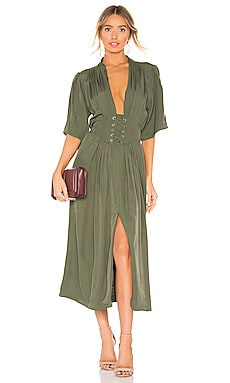 Laced Up Midi Dress Divine Heritage $174