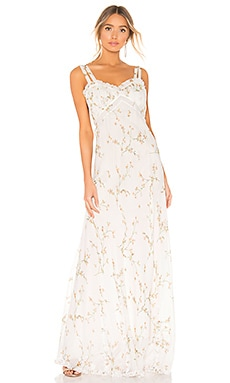 Velvet Trim Maxi Dress Divine Heritage $116