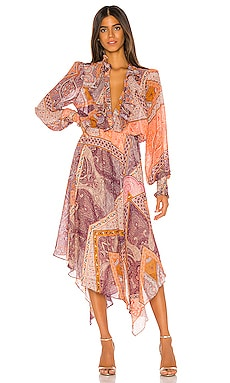 Ruffle Front Midi Dress Divine Heritage $535