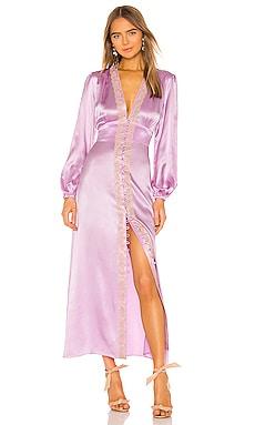 Lace Trim V Neck Dress Divine Heritage $535
