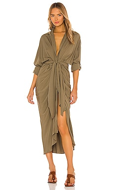 Long Sleeve Button Up Dress Divine Heritage $635