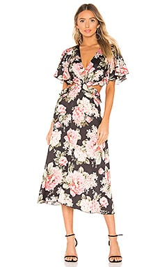 Flutter Sleeve Midi Dress Divine Heritage $112