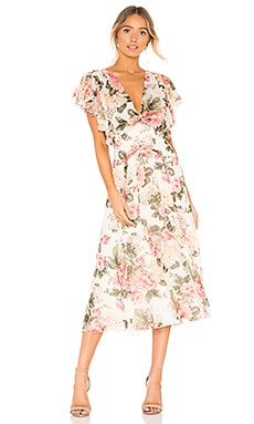 Twist Back Midi Dress Divine Heritage $247
