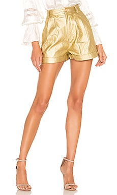 Faux Leather Proper Cuffed Short Divine Heritage $245