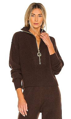 x REVOLVE Cropped Henley Sweater Divine Heritage $116