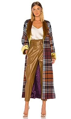 Plaid and Yellow Velvet Cloak Divine Heritage $795 BEST SELLER
