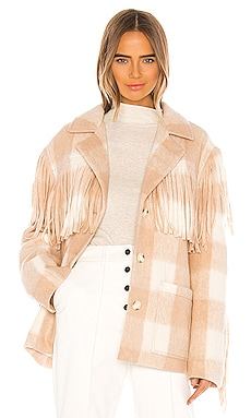Plaid Wool Fringe Jacket Divine Heritage $495 NEW ARRIVAL