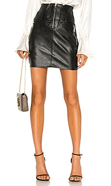 Vegan Leather Moto Skirt Divine Heritage $145