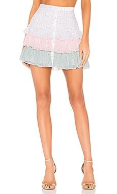 Three Tiered Mini Skirt Divine Heritage $275