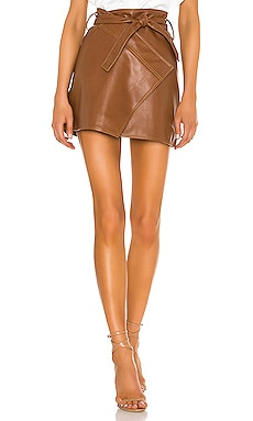 Wrap Mini Skirt Divine Heritage $285
