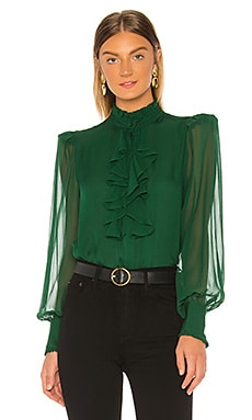 Ruffle Front Top Divine Heritage $295