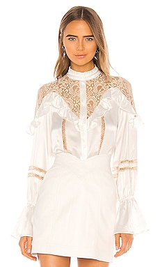 Lace Inset Blouse Divine Heritage $183
