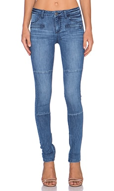 DL1961 Florence Moto Zip Skinny in Domingo