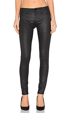 DL1961 Florence Coated Skinny in Nero