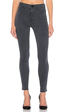 DL1961 x Jessica Alba No. 1 Ultra High Rise Ankle Skinny in Battle