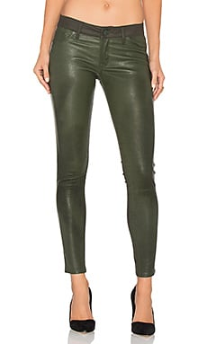 Emma Leather Power Legging in Pine