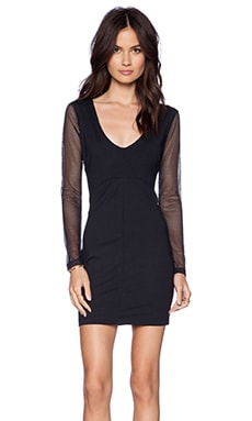 David Lerner Long Sleeve Bodycon Dress in Black