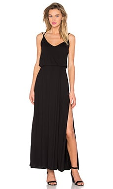 David Lerner Criss Cross Maxi Dress in Classic Black
