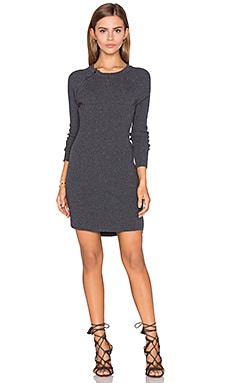 Raglan Sweater Dress in Charcoal Heather