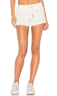 Mesh Sport Short in Soft White