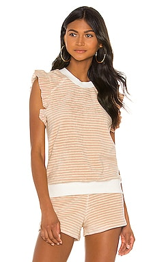 Sleeveless Ruffle Pullover David Lerner $27