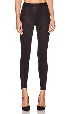 David Lerner Fulton Leatherette Legging in Classic Black