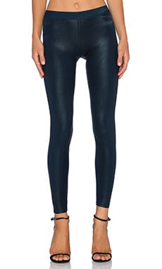 David Lerner Barlow Leatherette Legging in Vintage Navy