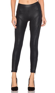 David Lerner Leatherette Fulton Legging in Black