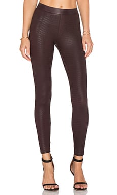 David Lerner Croc Barlow Legging in Merlot