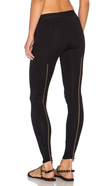 David Lerner x Chiqui Delgado Zip Back Legging in Classic Black