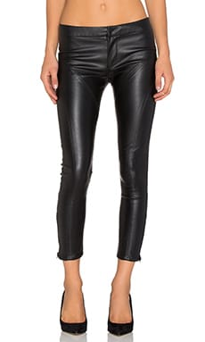 David Lerner Vegan Fulton Ankle Legging in Classic Black