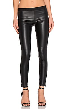 David Lerner Pull On Vegan Legging in Classic Black