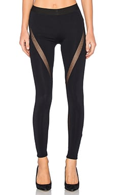 David Lerner Mesh Tribal Legging in Black