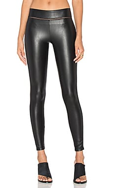 David Lerner Mid Rise Stitched Legging in Classic Black