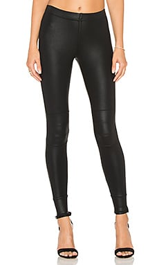 David Lerner Coated Moto Legging in Classic Black
