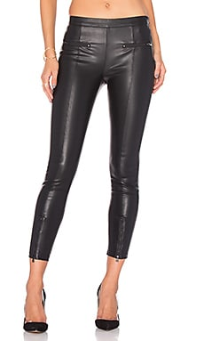 David Lerner Front Zip Legging in Classic Black
