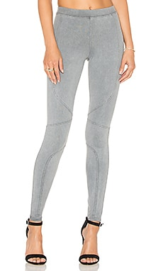 David Lerner Pigment Dye Seamed Legging in Charcoal